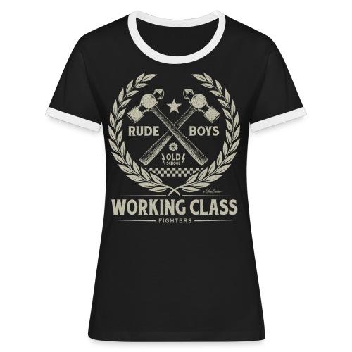 clase obrera - Camiseta contraste mujer