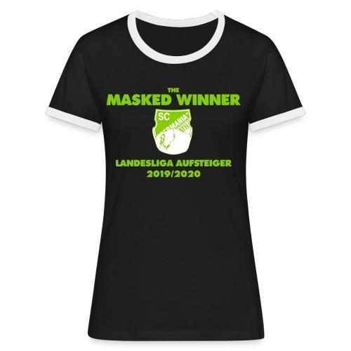 The Masked Winner Aufstieg - Frauen Kontrast-T-Shirt