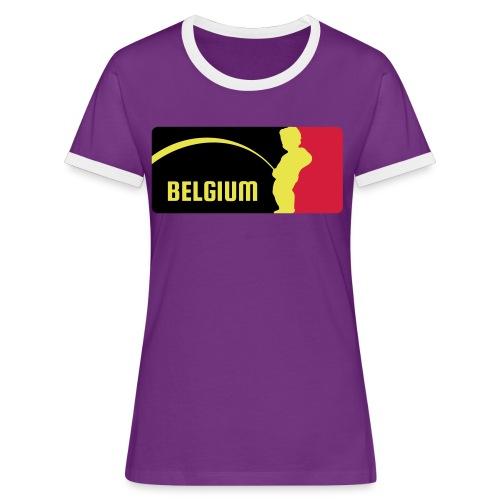 Mannekke Pis, Belgium Rode duivels - Belgium - Bel - T-shirt contrasté Femme