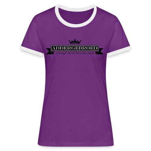 Addergebroed - Vrouwen contrastshirt