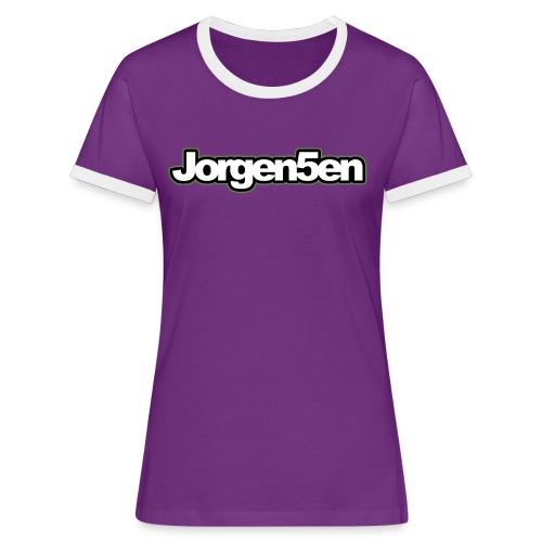 tshirt - Dame kontrast-T-shirt