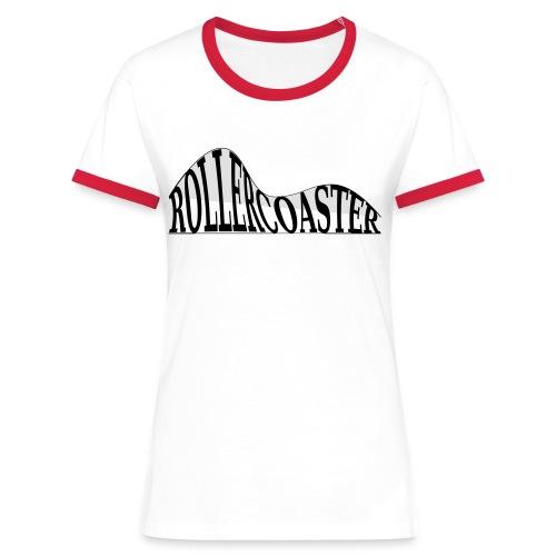 envelope_coaster - Dame kontrast-T-shirt