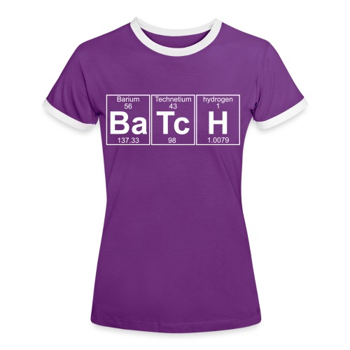 Ba-Tc-H (batch) - Full - Women's Ringer T-Shirt