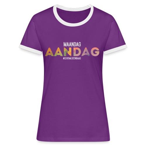 AANdag - Vrouwen contrastshirt