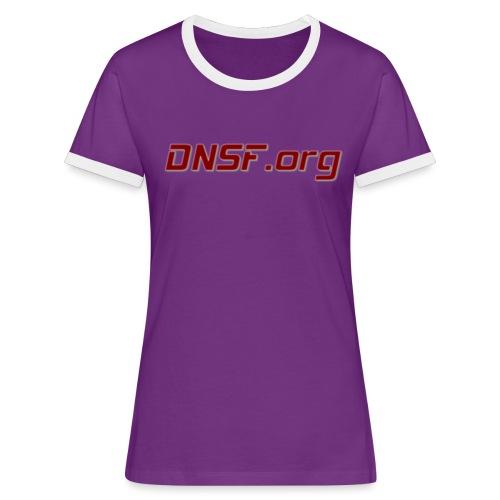 DNSF t-paita - Naisten kontrastipaita
