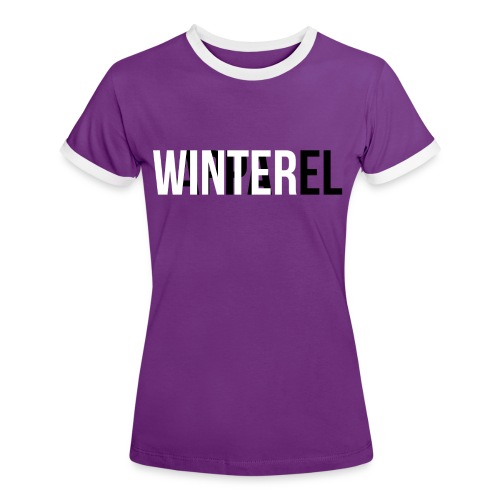 Winter Apparel Logo - Dame kontrast-T-shirt
