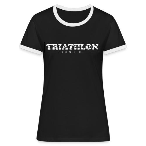 Triathlon - Frauen Kontrast-T-Shirt
