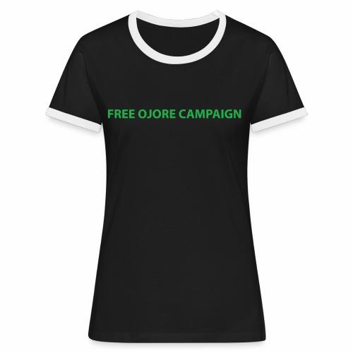 FREE OJORE CAMPAIGN green - Women's Ringer T-Shirt