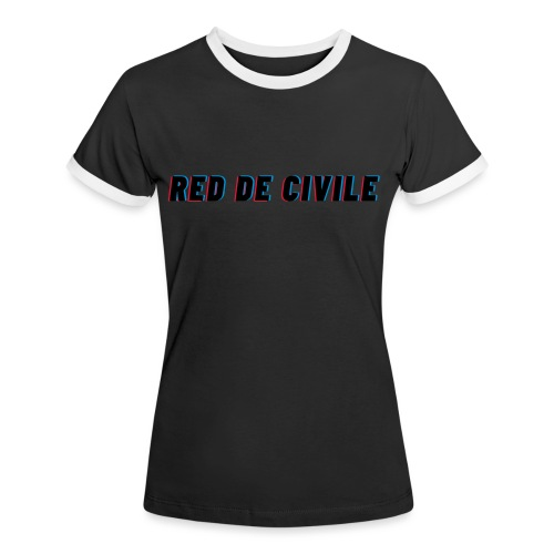 RED DE CIVILE main logo - Dame kontrast-T-shirt