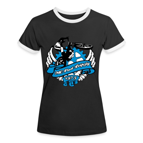 MC Post Leipzig für Girl Shirts - Frauen Kontrast-T-Shirt
