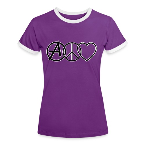 ANARCHY PEACE & LOVE - Women's Ringer T-Shirt