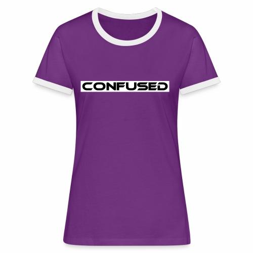 CONFUSED Design, Verwirrt, cool, schlicht - Frauen Kontrast-T-Shirt