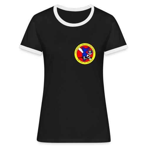 Tauchschule Logo - Frauen Kontrast-T-Shirt