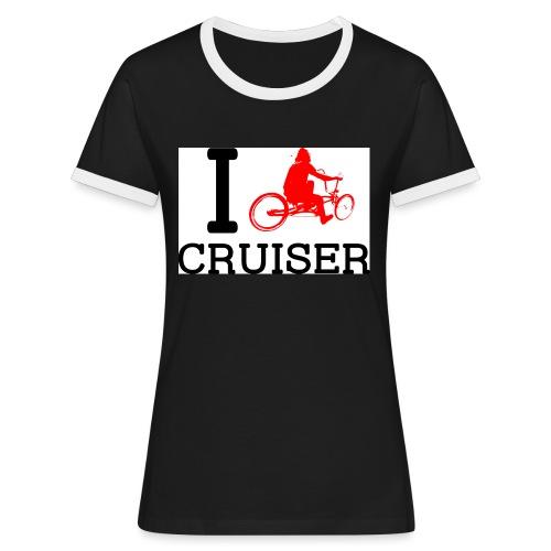 icruiser - T-shirt contrasté Femme