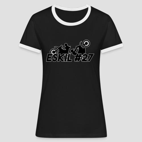 ESKIL 27 sticker motive - Kontrast-T-shirt dam