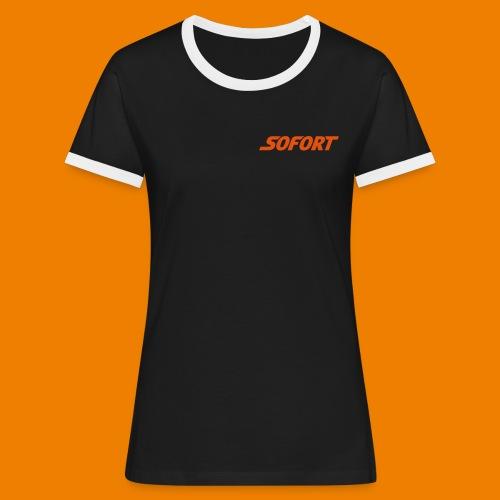 SOFORT Plain - Frauen Kontrast-T-Shirt