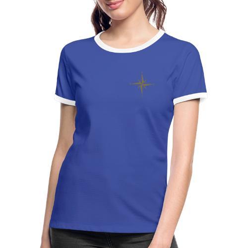 Kompas Gold - Dame kontrast-T-shirt