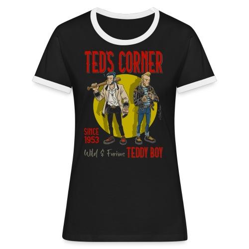 El rincón de Ted salvaje y furioso - Camiseta contraste mujer