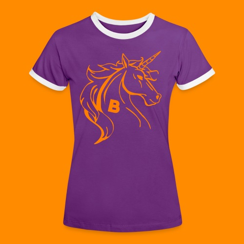 orange biodusty unicorn shirt - Vrouwen contrastshirt