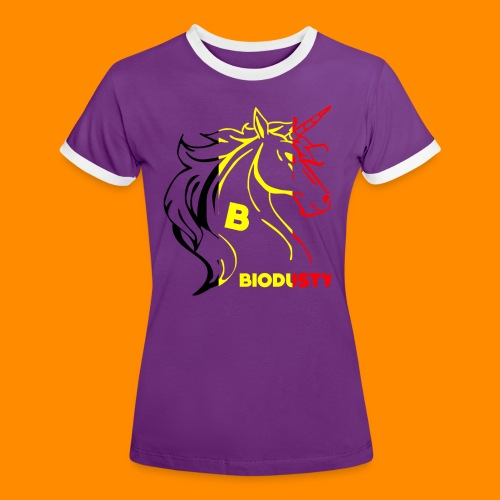belgian biodusty unicorn hoodie unisex - Vrouwen contrastshirt