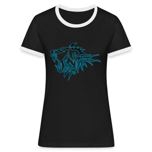Tee Shirt Tigres Bleu - T-shirt contrasté Femme