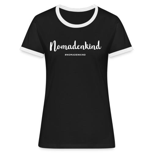 Nomadenkind by Solonomade - Frauen Kontrast-T-Shirt