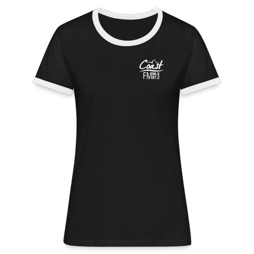 Coast FM single colour logo - Women's Ringer T-Shirt