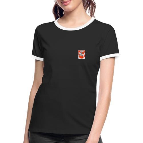Marburg Wappen - Frauen Kontrast-T-Shirt