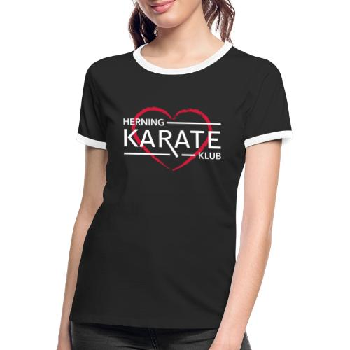 HKK Hjerte Hvid - Dame kontrast-T-shirt