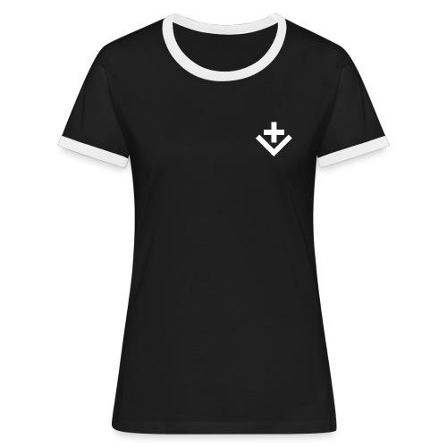 Mutterschiff Fanboy/Fangirl - Frauen Kontrast-T-Shirt