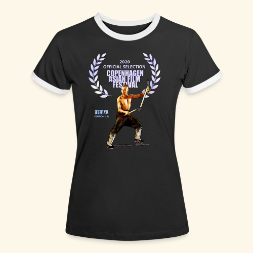 CAFF - Official Item - Shaolin Warrior 2 - Dame kontrast-T-shirt