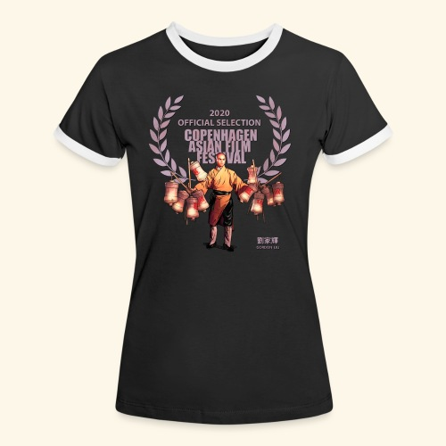 CAFF - Official Item - Shaolin Warrior 4 - Dame kontrast-T-shirt