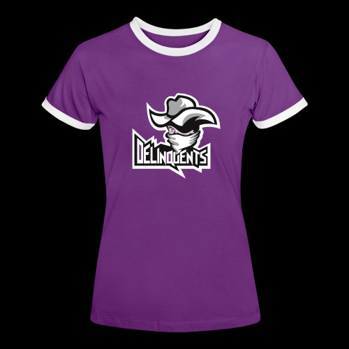 Delinquents TriColor - Dame kontrast-T-shirt