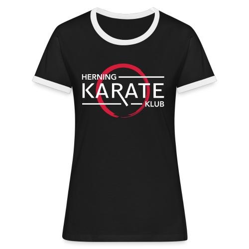 HKK Hvid - Dame kontrast-T-shirt