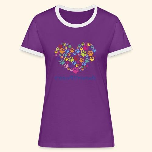 CUOREZAMPE - Maglietta Contrast da donna