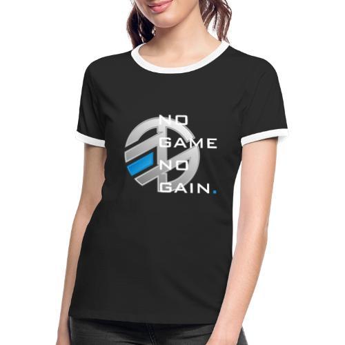 NO GAME NO GAIN - T-shirt contrasté Femme