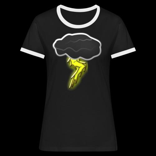 Blitzschlag - Frauen Kontrast-T-Shirt