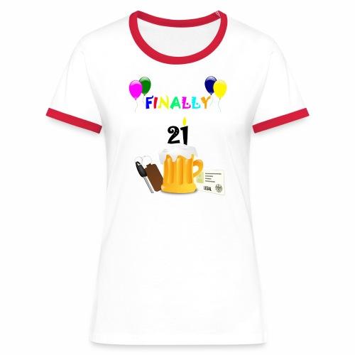 Finally 21 (2) - Women's Ringer T-Shirt