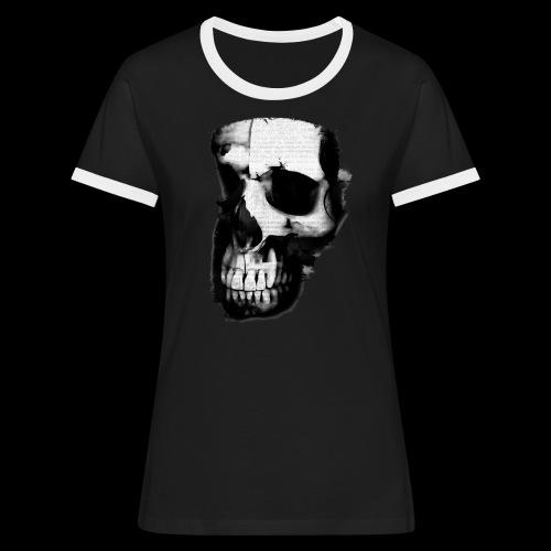 teschio darktrasp - Maglietta Contrast da donna