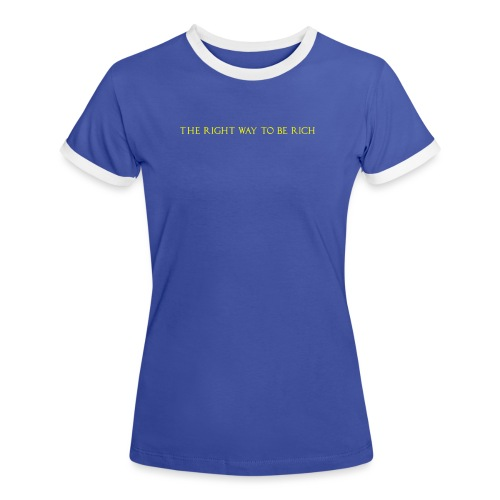 The right way to be rich - T-shirt contrasté Femme