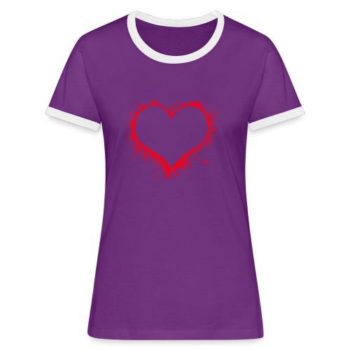 heart 2402086 - Maglietta Contrast da donna