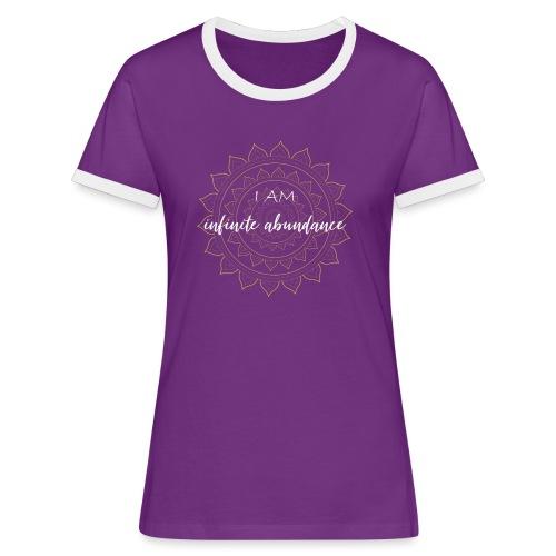 I am infinite abundance white gold mandala - Frauen Kontrast-T-Shirt