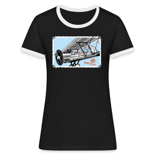 Doppeldecker - Frauen Kontrast-T-Shirt