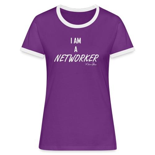 I AM A NETWORKER - T-shirt contrasté Femme