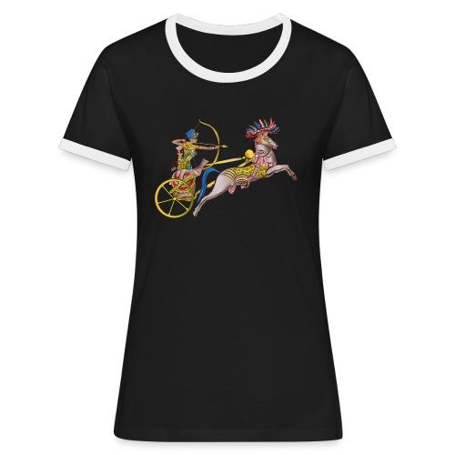 Pharao mit Streitwagen - Frauen Kontrast-T-Shirt