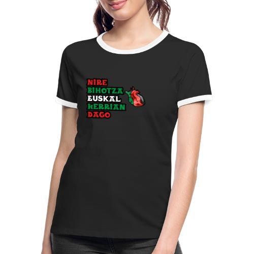 Bihotza - Camiseta contraste mujer