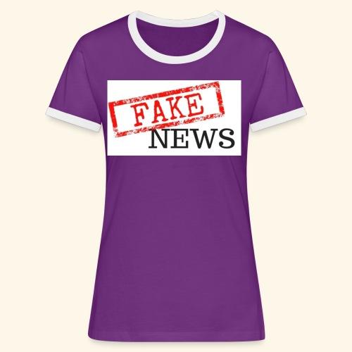 fake news - Women's Ringer T-Shirt