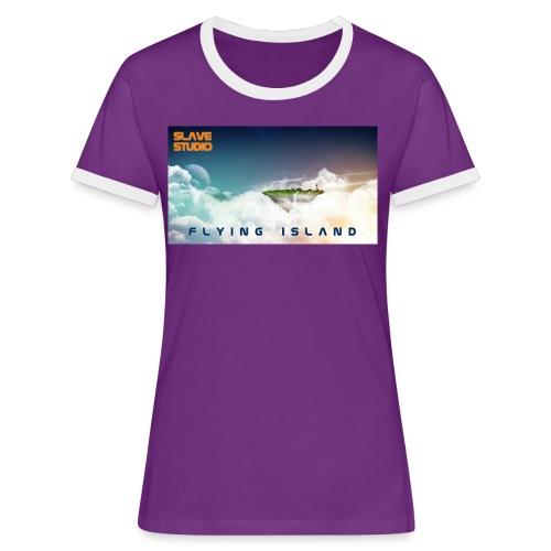 flying island - Maglietta Contrast da donna