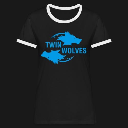 Twin Wolves Studio - Maglietta Contrast da donna
