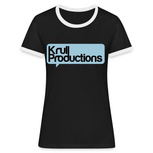 kpshirtblsvart - Kontrast-T-shirt dam